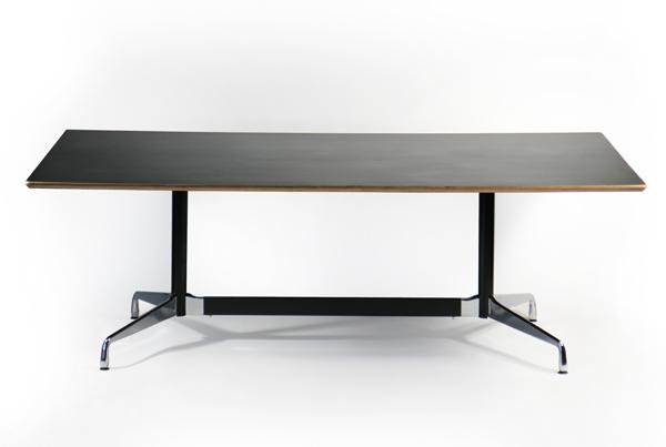 送料無料 新品 イームズ セグメンテッドベーステーブル イームズテーブル アルミナムテーブル W220×D120×H74 cm ブラック TA