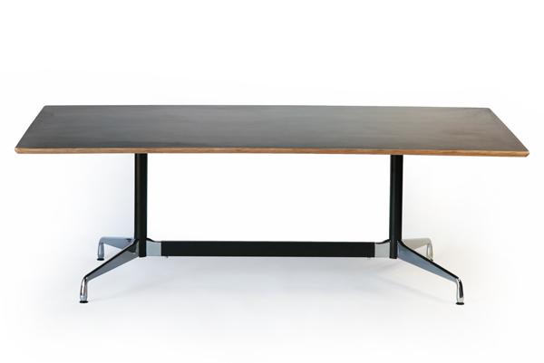 送料無料 新品 イームズ セグメンテッドベーステーブル イームズテーブル アルミナムテーブル W220×D120×H74 cm ウォールナット TA