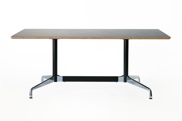 送料無料 新品 イームズ セグメンテッドベーステーブル イームズテーブル アルミナムテーブル W180×D100×H74 cm ウォールナット TA