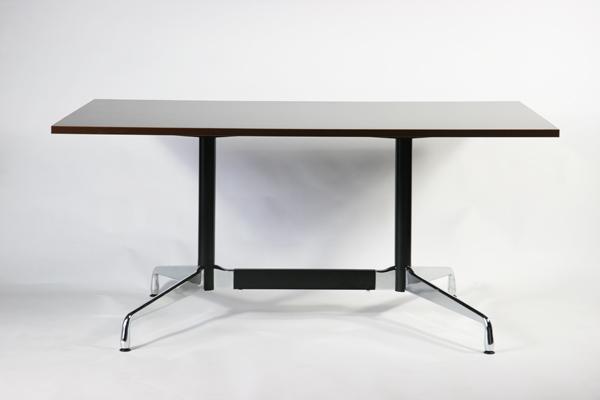 送料無料 新品 イームズ セグメンテッドベーステーブル イームズテーブル アルミナムテーブル W160×D90×H74 cm ウォールナット ST