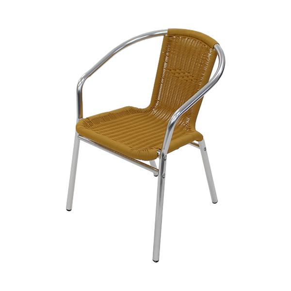 送料無料 アルミチェア 1脚 人工ラタン ダイニングチェア ロビーチェア ガーデンチェア ラタンチェア スタッキングチェア 会議椅子 ラウンジチェア 軽量で持ち運び簡単 ビーチチェア アルミチェア スタッキング アウトドア リゾート ラタン (人工) ナチュラル L24NA