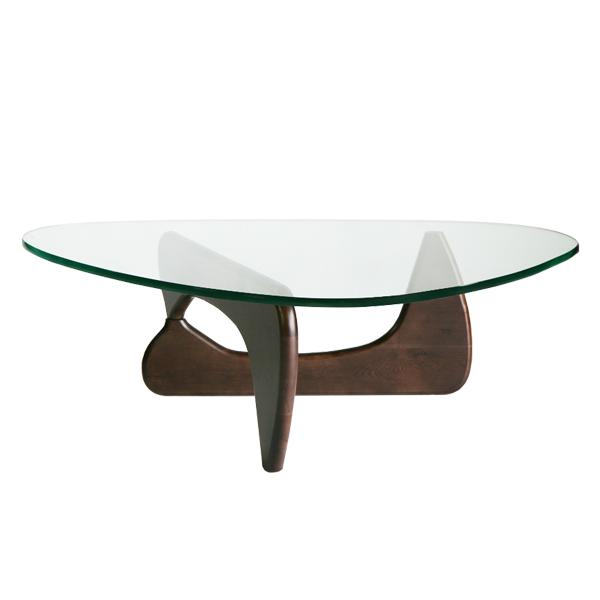 新作送料無料 送料無料 新品 イサムノグチ センターテーブル 19mm 新色追加 ノグチテーブル 強化ガラス ウォールナット