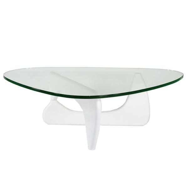 送料無料 新品 イサムノグチ センターテーブル ノグチテーブル 19mm 強化ガラス ホワイト