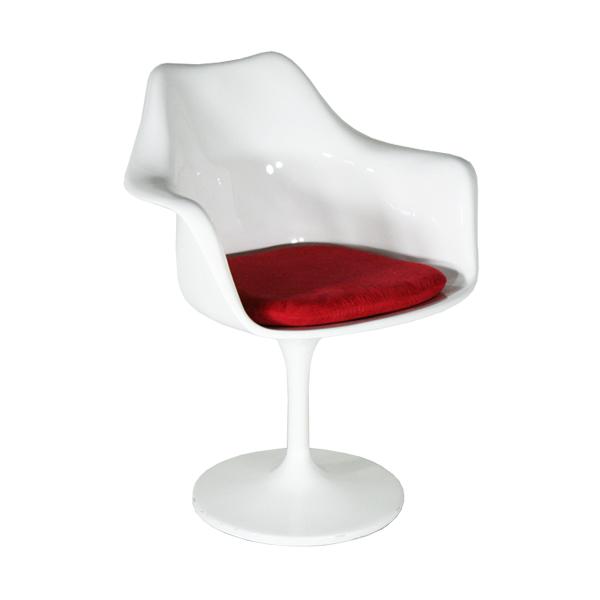 送料無料 新品 チューリップチェア ファイバーグラス製 アームチェア エーロ・サーリネン WHITE 044