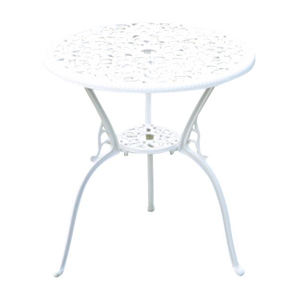 送料無料 アルミ鋳物ガーデンテーブル アルミガーデンテーブル ガーデンファニチャー ガーデンテーブル アルミ テーブル キャンプテーブル アルミテーブル アウトドア 鋳物 ホワイト