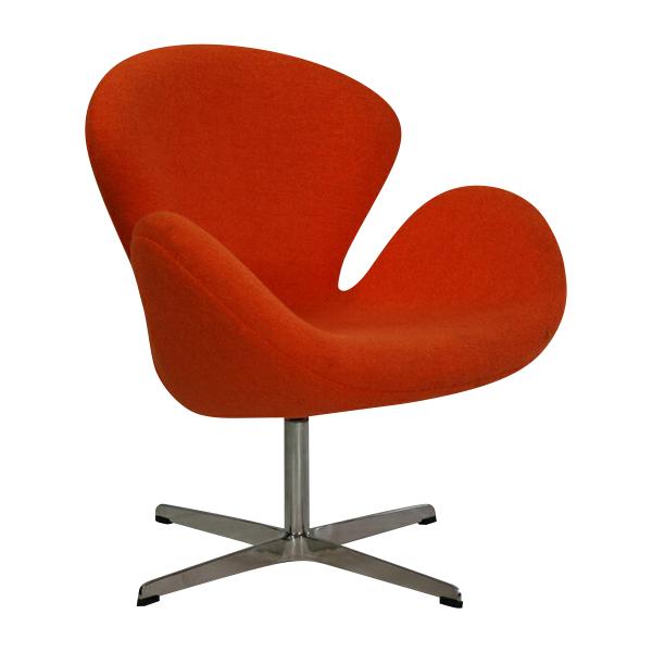 送料無料 新品 スワンチェア・オレンジ(Swan Chair,オレンジ) オレンジ