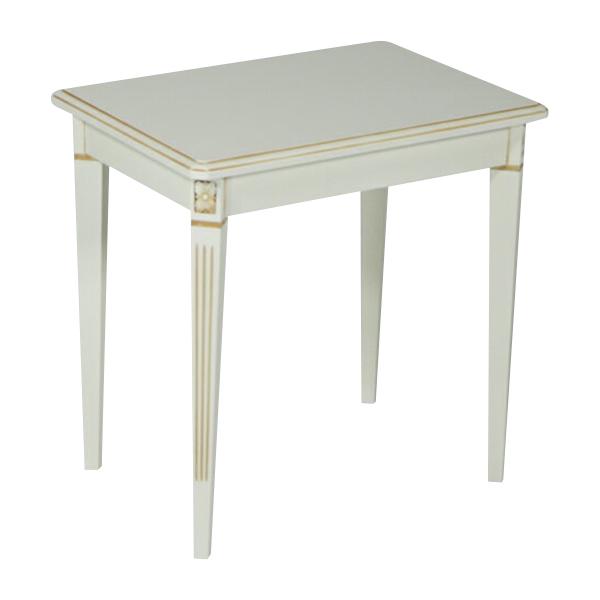 送料無料 新品 ホワイトロココ サイドテーブル 花台 F6101-L ホワイト
