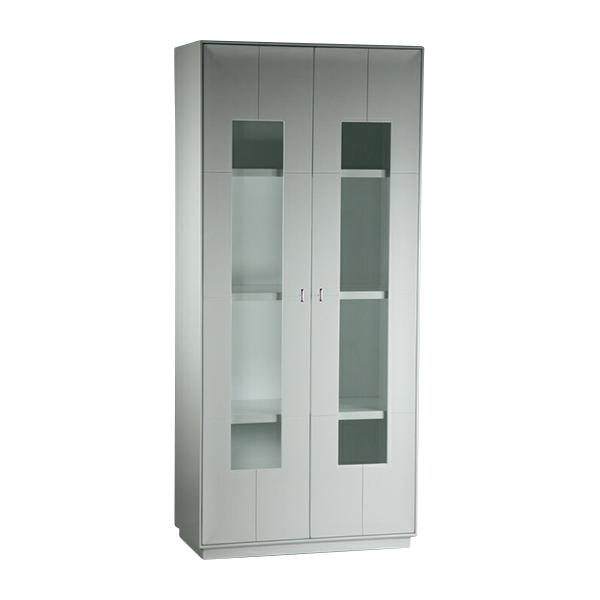 送料無料 新品 大型 2door キャビネット コレクションボード 飾り棚 完成品 ホワイト