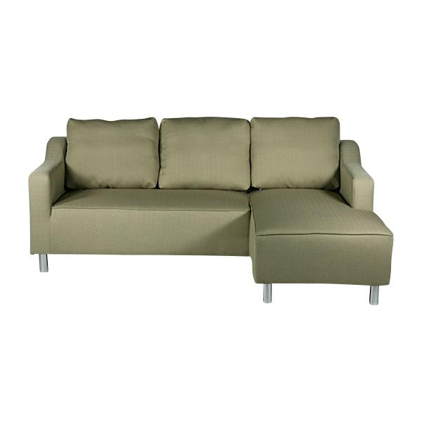 New couch sofa corner sofa fabric light green MABU-15 Right hand