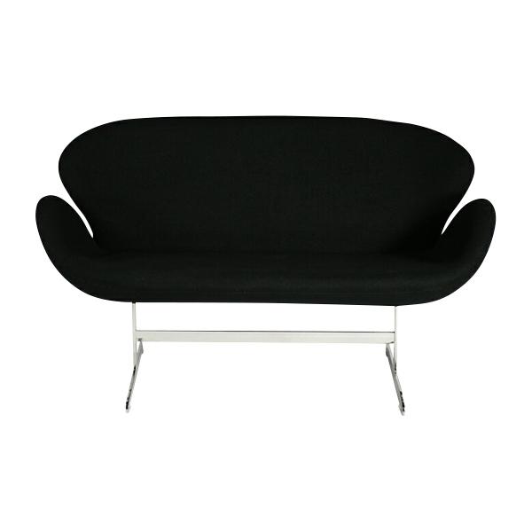 送料無料 新品 スワンチェア(Swan Chair) BK 2P ラブソファ