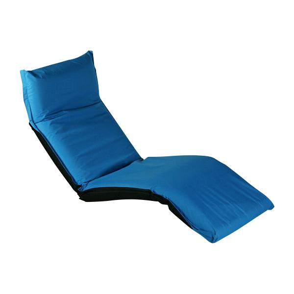 送料無料 新品 フロアベッド フロアチェア 座椅子 リクライニング 座イス 1人掛け ブルー