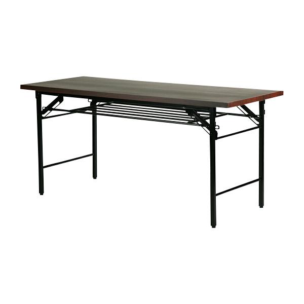 送料無料 新品 棚付 折りたたみ 折畳み 座卓テーブル 座卓 長机 会議テーブル 会議用テーブル 高脚 ミーティングテーブル 7651MB 150x60x70cm