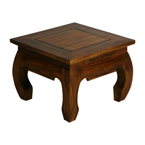 送料無料 新品 チーク無垢 オピュームテーブル ローテーブル サイドテーブル チーク材 無垢材 チーク T-243A-ブラウン