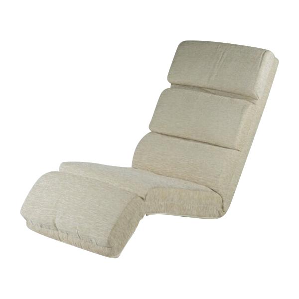送料無料 新品 14段階調節可能 フロアチェア リクライニング 座椅子 フロアベッド アイボリー 20