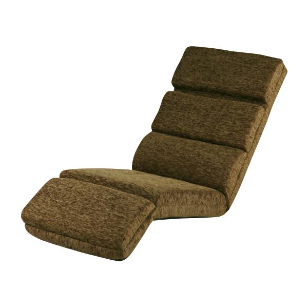 送料無料 新品 14段階調節可能 フロアチェア リクライニング 座椅子 フロアベッド ブラウン 20