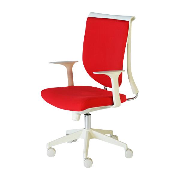 送料無料 新品 スキットチェア/高さ調節可能 オフィスチェア ロッキングチェア ミーティングチェア 会議椅子 パソコンチェア 肘付き デザイナーズ ロッキング機能 会議用 肘かけ取り外し可能 レッド