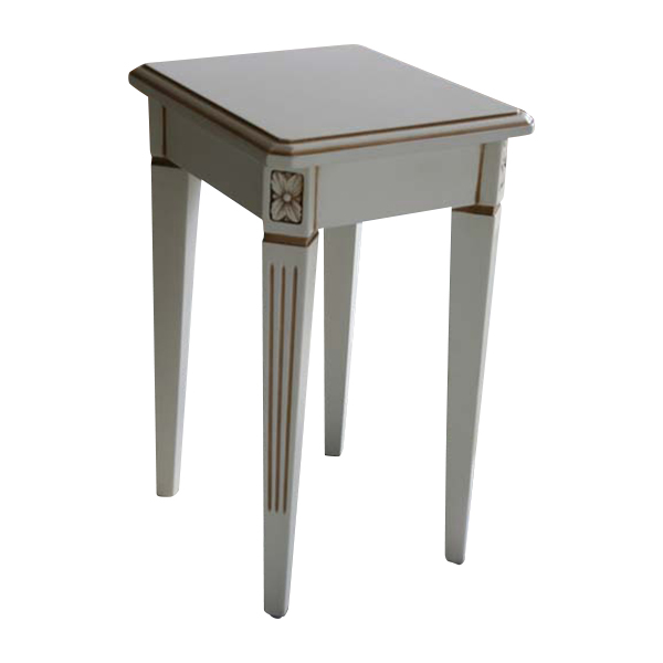 送料無料 新品 ホワイトロココ サイドテーブル 花台 F6101-S ホワイト
