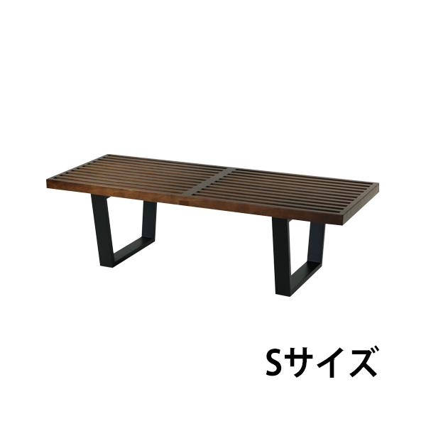 送料無料 新品 ネルソンベンチ オーク材 オーク 121x47.5x36.5(cm) 約120cm Sサイズ 北欧家具 デザイナーズ ウォールナット