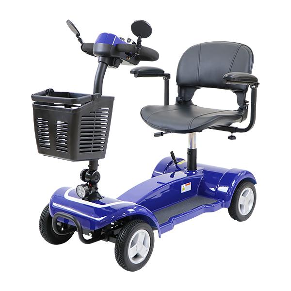 送料無料 電動シニアカート 青 電動カート シルバーカー サイドミラー 車椅子 TAISコード取得済 運転免許不要 電動車いす 電動車椅子 介護 福祉 バックミラー 鏡 充電 折りたたみ 軽量 四輪車 4輪車 移動 高齢者 お年寄り 乗り物 スクーター ブルー scooterx01blue