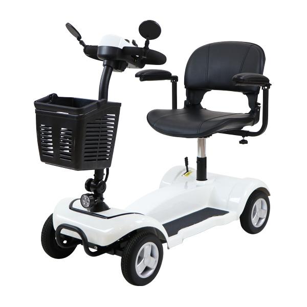 送料無料 電動シニアカート 白 電動カート シルバーカー サイドミラー 車椅子 TAISコード取得済 運転免許不要 電動車いす 電動車椅子 介護 福祉 バックミラー 鏡 充電 折りたたみ 軽量 四輪車 4輪車 移動 高齢者 お年寄り 乗り物 スクーター ホワイト scooterx01wh