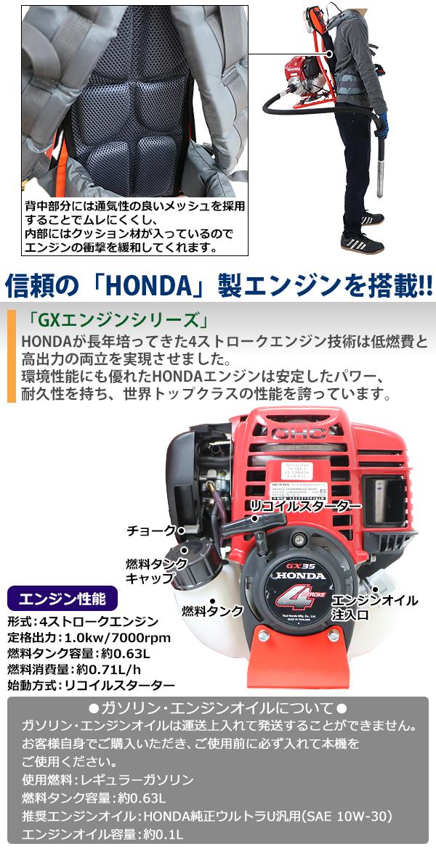 背負い式 コンクリートバイブレーター Honda ホンダ GX35 エンジン式 シャフト長さ約1.5m 高周波バイブレーター コンクリート振動機 フレキ 4ストロークエンジン コンクリート バイブレーター バイブレータ フレキ式 錐振 打設 内部振動機 土木 建築 pv4vp15m