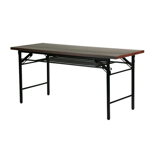 訳あり 送料無料 新品 棚付 折りたたみ 折畳み 座卓テーブル 座卓 長机 会議テーブル 会議用テーブル 高脚 ミーティングテーブル 7651MB 150x60x70cm