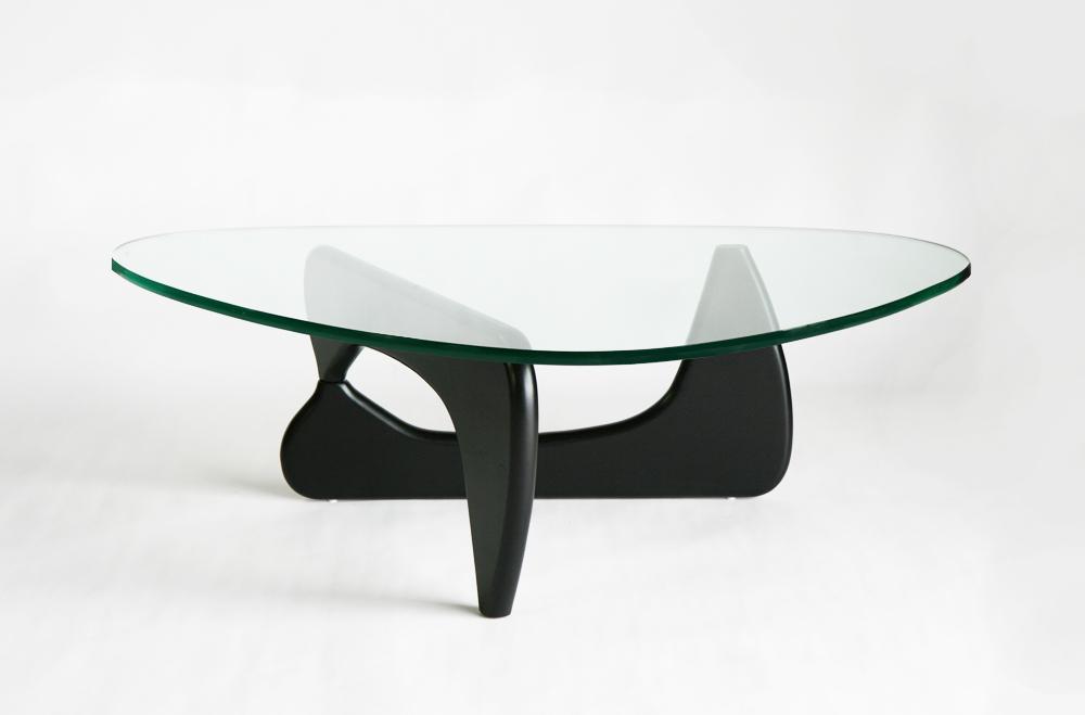 送料無料 訳あり イサムノグチ センターテーブル ノグチテーブル 19mm 強化ガラス ブラック