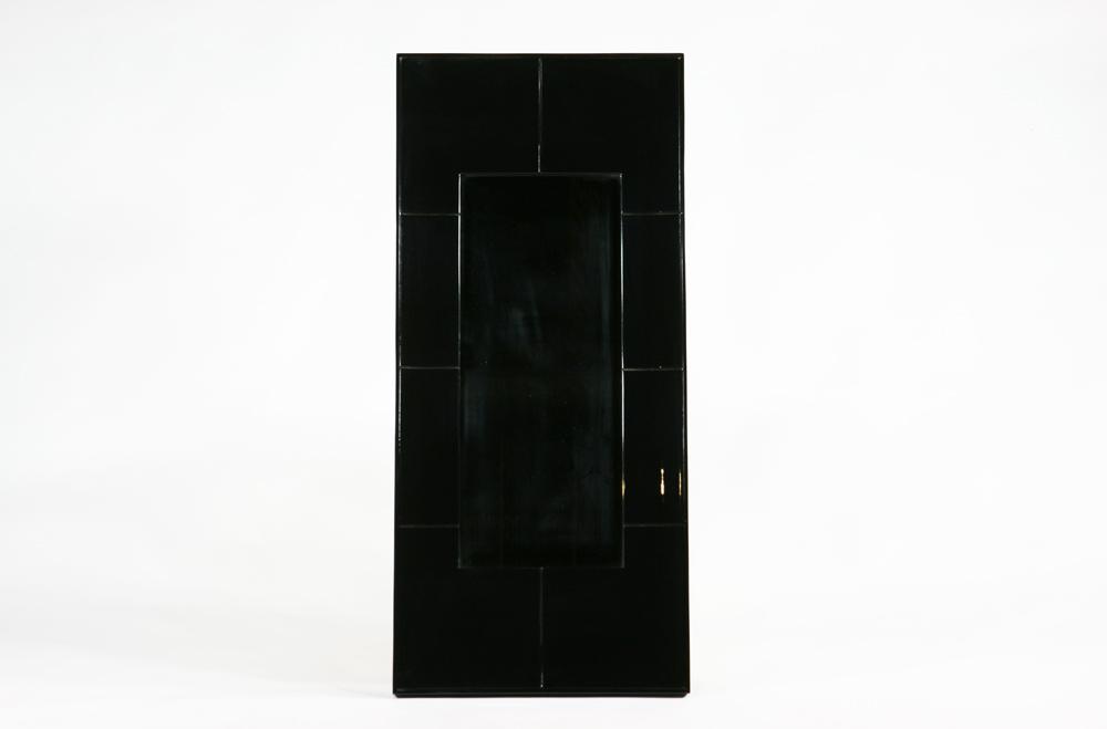 送料無料 新品 鏡面塗装 鏡 ミラー ブラック