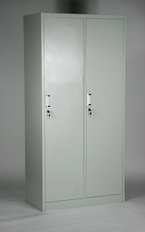 送料無料 新品 スチールロッカー スチールキャビネット キャビネット 2人用 10-013