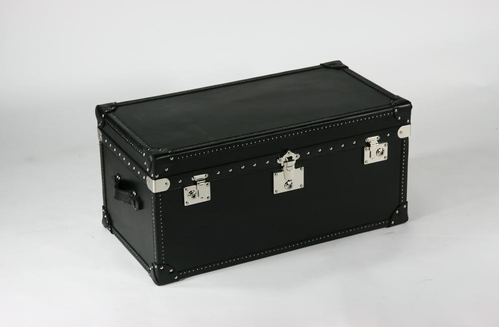 送料無料 新品 トランクコーヒーテーブル コーヒーテーブル レザー 本革使用 スツール ブラック