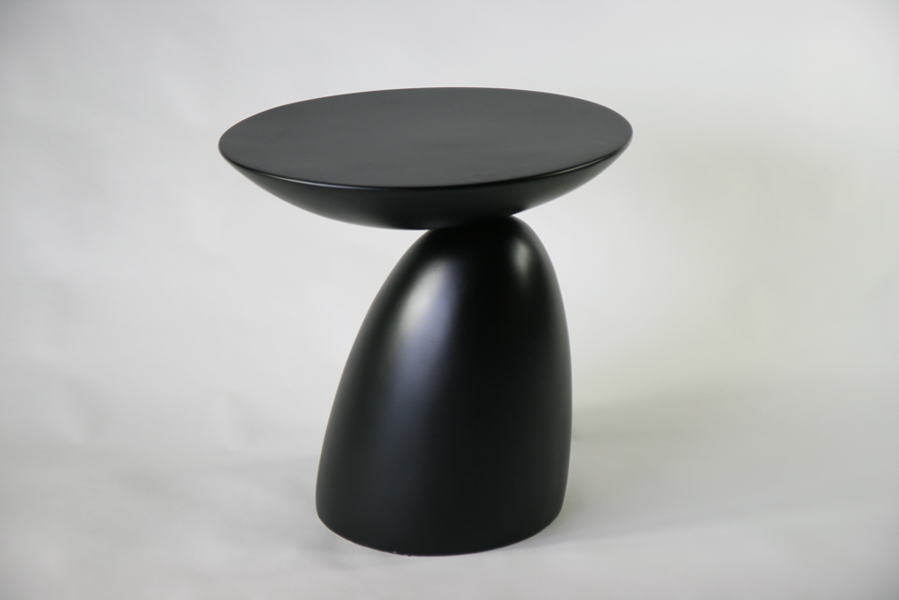送料無料 新品 スペースエイジサイドテーブル ファイバーグラス製 モダンサイドテーブル サイドテーブル ミッドセンチュリー ブラック