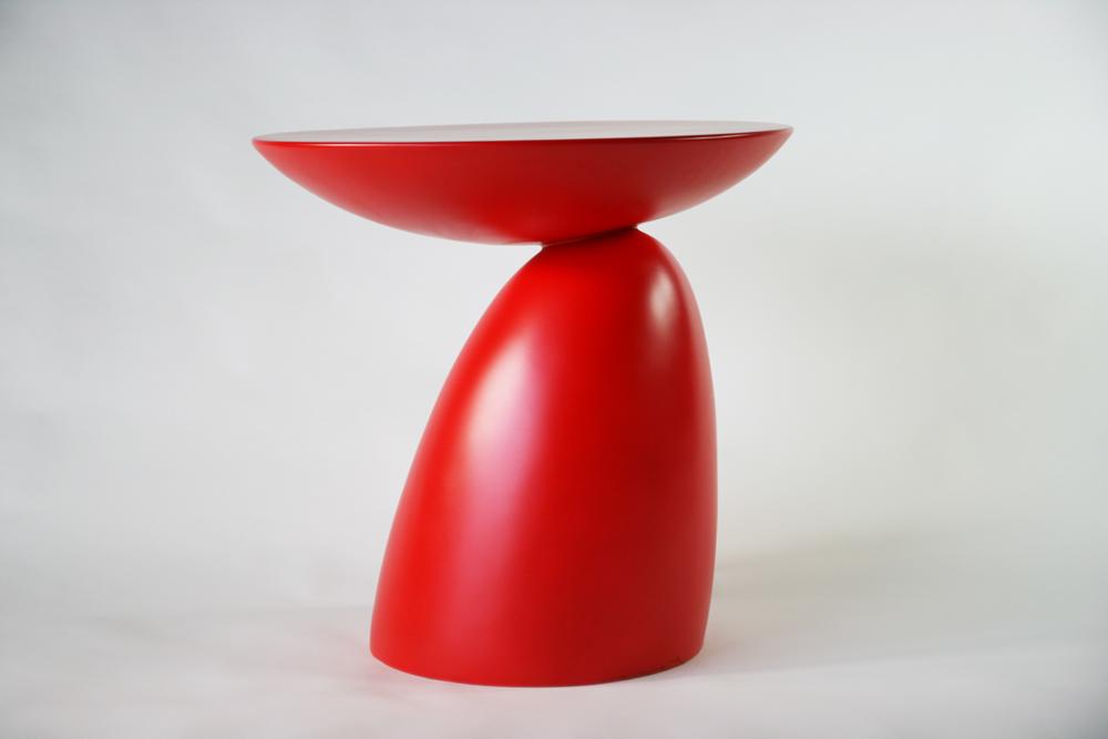 送料無料 新品 スペースエイジサイドテーブル ファイバーグラス製 モダンサイドテーブル サイドテーブル ミッドセンチュリー レッド