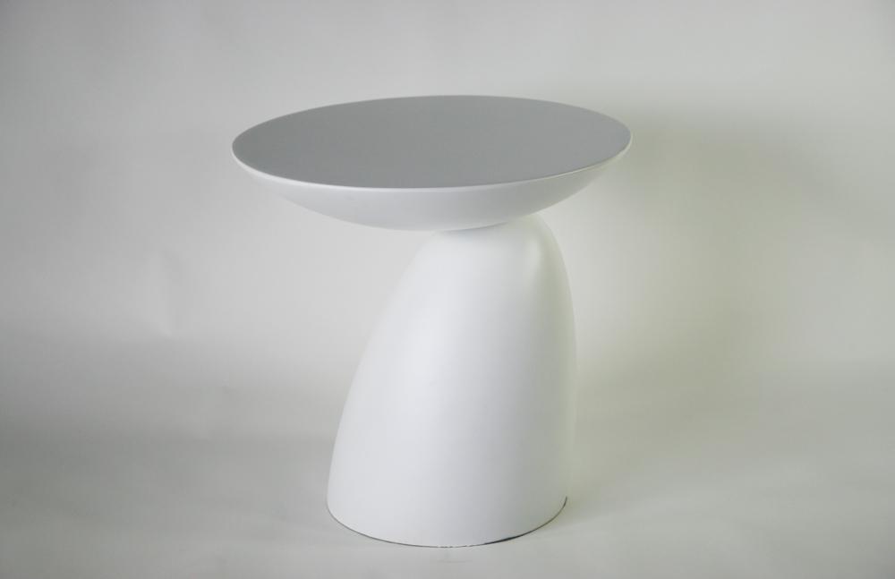 送料無料 新品 スペースエイジサイドテーブル ファイバーグラス製 モダンサイドテーブル サイドテーブル ミッドセンチュリー ホワイト