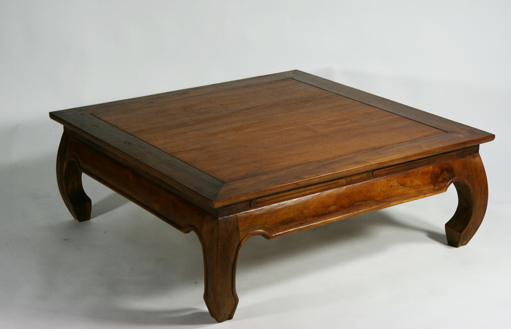 Goldspace Rakuten Global Market New Teak Solid Opium Table W Center Wood T 243c Brown