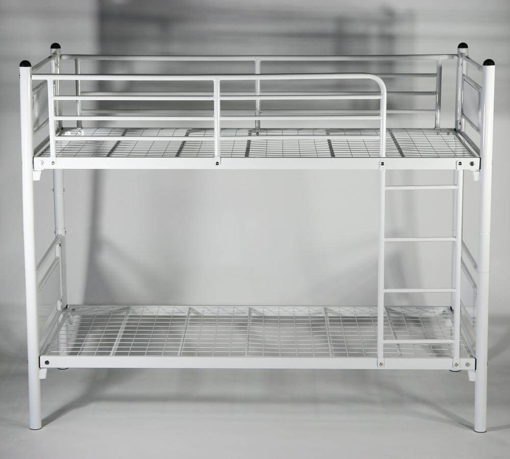 新品 パネルベッド パイプ二段ベッド パイプ2段ベッド 二段ベッド 2段ベッド パイプベッド シングルベッド スチールベッド 052WH