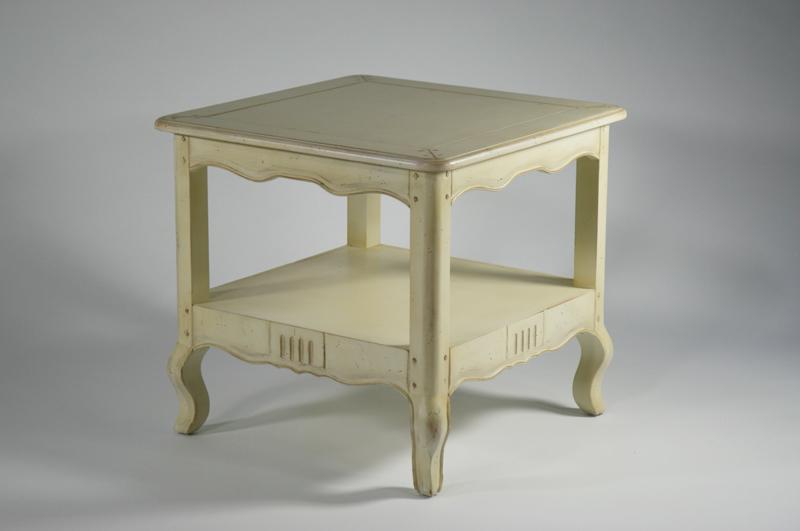 送料無料 新品 アンティーク調 サイドテーブル ランプテーブル 花台 856-WH