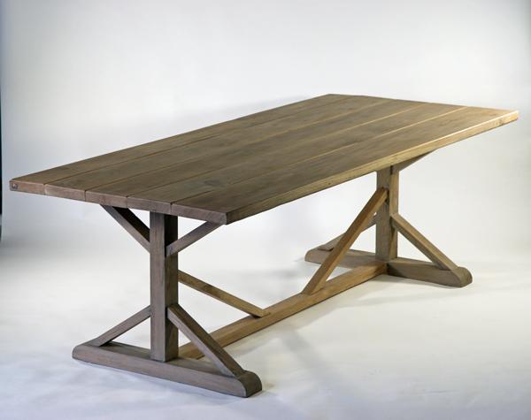 送料無料 新品 アンティーク調 オーク材 ダイニングテーブル