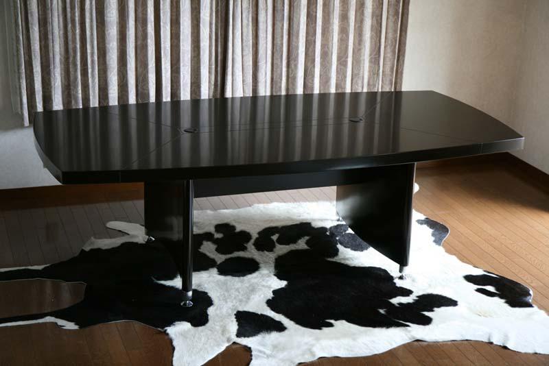 送料無料 新品 超高級 ウォールナット色 会議テーブル ミーティングテーブル 8009