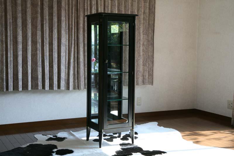 送料無料 新品 ブラックロココ コレクションボード 飾り棚 完成品 F6117BG ブラック