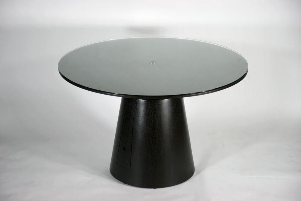 送料無料 新品 ラウンドテーブル 円形ダイニングテーブル 836 ダークエンジ