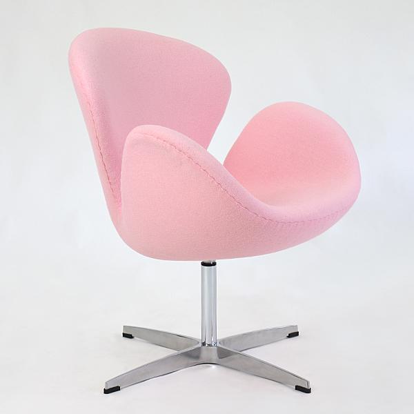 送料無料 新品 スワンチェア(Swan Chair) 北欧デザイン ファブリック LIGHTPINK ライトピンク