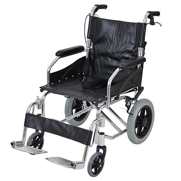 車椅子 アルミ合金製 黒 約10kg TAISコード取得済 背折れ 軽量 折り畳み 介助用 介助ブレーキ付き 携帯バッグ付き ノーパンクタイヤ 折りたたみ コンパクト 軽い 背折れ式 介助用 介助 車椅子 車イス 車いす ブラック 送料無料 wheelchairb63bk