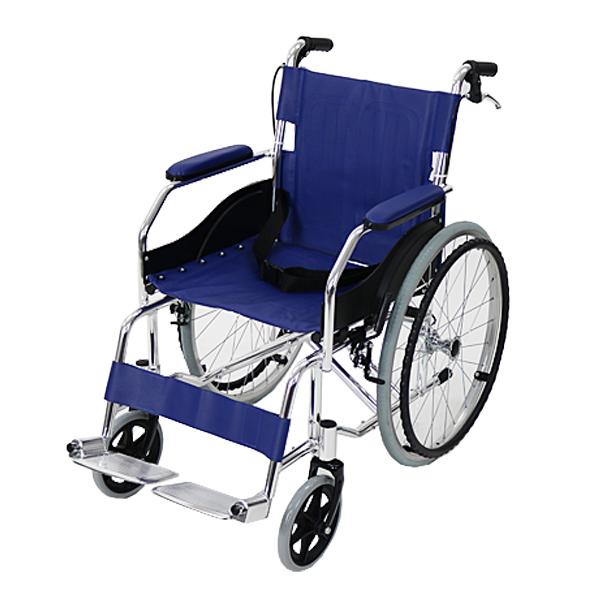 送料無料 新品 車椅子 アルミ合金製 青 約11kg 軽量 折り畳み 自走介助兼用 介助ブレーキ付き 携帯バッグ付き ノーパンクタイヤ 自走用車椅子 自走式車椅子 折りたたみ コンパクト 自走用 介助用 自走式 自走 介助 車椅子 車イス 車いす ブルー wheelchairb68blue