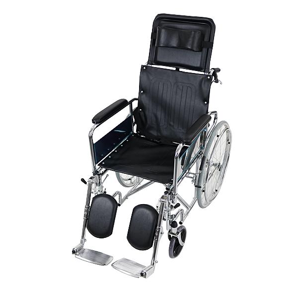 送料無料 自走介助兼用 リクライニング車椅子 黒 TAISコード取得済 折り畳み 携帯バッグ付き ノーパンクタイヤ フルリクライニング車椅子 リクライニング フルリクライニング 自走用車椅子 自走式車椅子 介助用 自走 介助 車椅子 車イス 車いす ブラック wheelchairb02bk