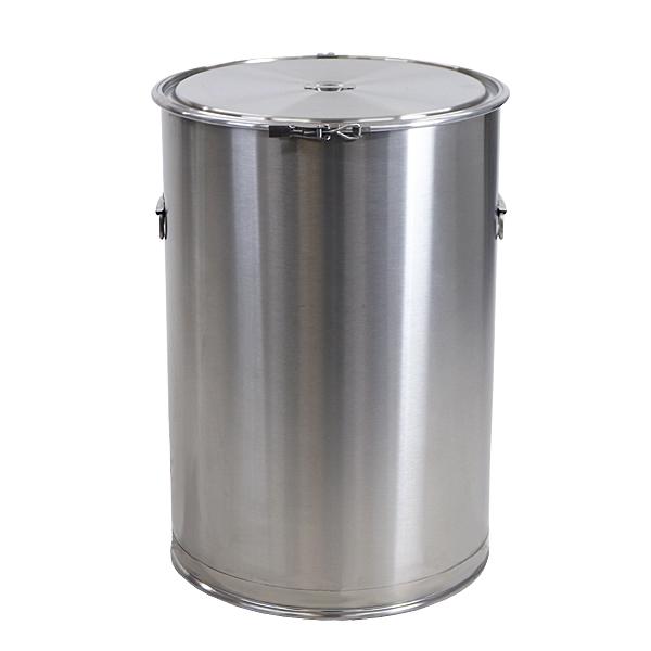 容器 保存容器 密閉容器 密閉ステンレス容器 レバーバンド式 バンド式密閉大型タンク 取っ手付き 貯蔵用大型タンク 内径約585mm×深さ約850mm 板厚約1.2mm 容量約200L ステンレス 保存 丸型 ドラム タンク レバーバンド キッチン 業務用 厨房 SUS304 送料無料 drums585850