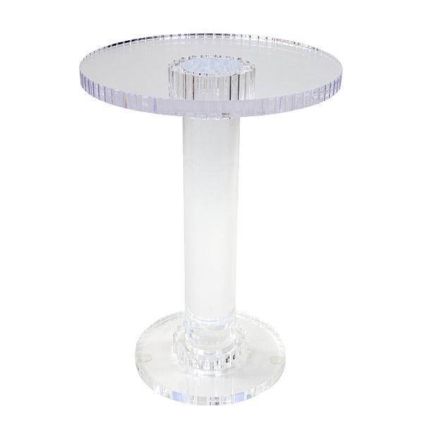 送料無料 アクリルテーブル サイドテーブル 丸テーブル ミニテーブル ラウンドテーブル ナイトテーブル コーヒーテーブル クリア 無色透明 透明 インテリア 家具 アクリル樹脂 アクリル テーブル 軽量 ディスプレイ リビング ダイニング 装飾 花台 おしゃれ actable045cl