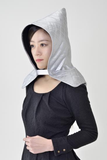 災害時用頭巾 防災頭巾 あごひも・収納袋付き 落下物の衝撃を和らげます 72個セット販売