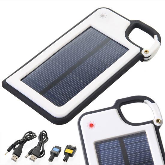 ソーラー充電器 電力残量チェッカー付き カラビナ付きソーラー充電器 36個セット販売