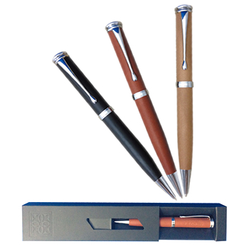 イミテーションレザー巻ボールペン 名入れ可能ボールペン 10本セット販売