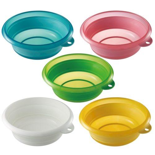 ソフト湯桶 使用後はたたんでコンパクトに収納できる、やわらか素材のソフト湯おけ 24個セット販売